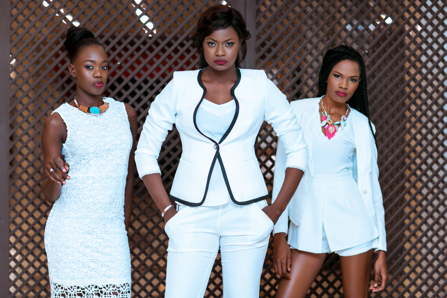 Look Book TOUTY 2015. From L to R Penda Thioune, Binta Sall, Coumbel Kane.