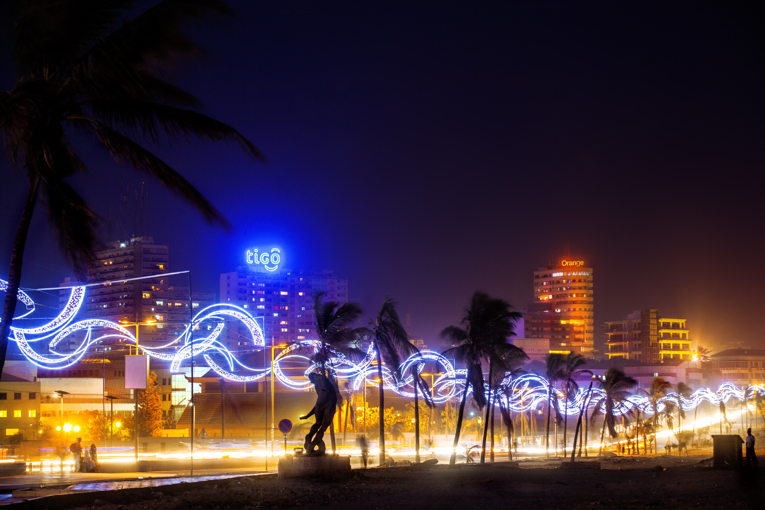 Dakar City Night corniche Ouest